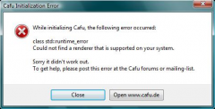 Cafu Initialization Error